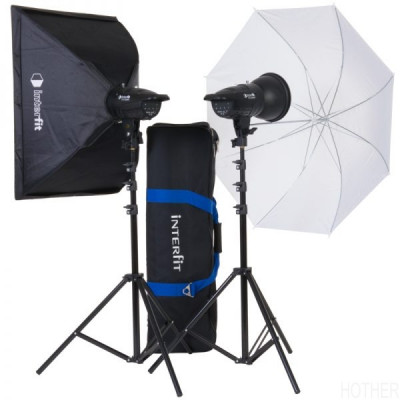 INTERFIT F121 KOMPAKT FLASH 2x 200WS KIT